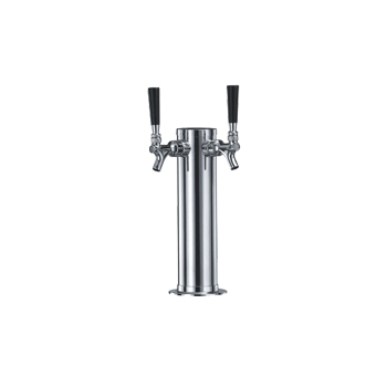 Taprite Stainless Steel Dual Draft Double Tap Beer Tower - Toronto Brewing
