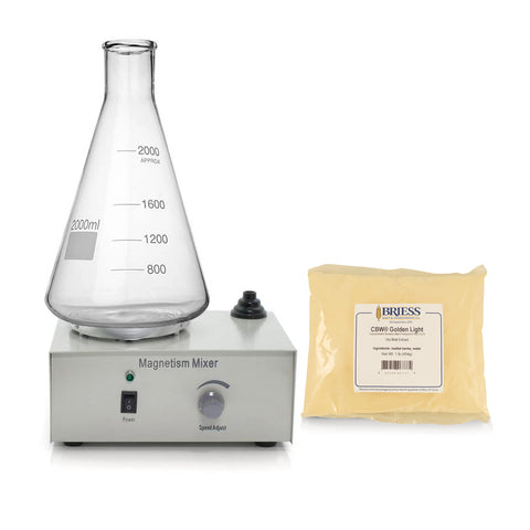 Yeast Starter Kit - Stir Plate and Stir Bar with 2L Flask and DME (1 lb)