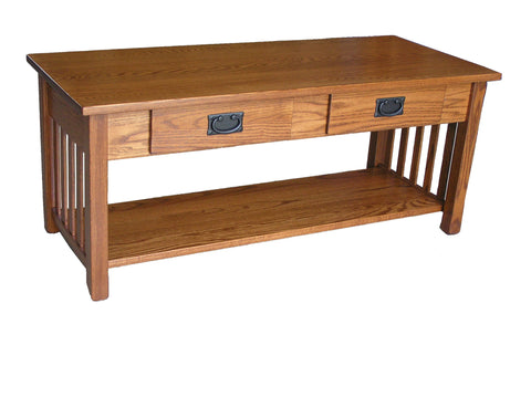 Mission 2 Drawer Coffee Table