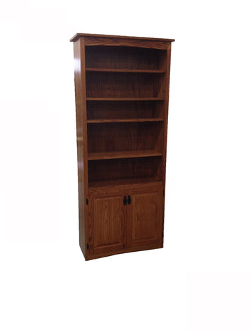 5-Shelf Bookcase with Cabinet