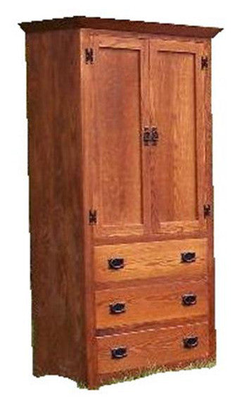 Sierra Mission Armoire Oak Crafts Inc