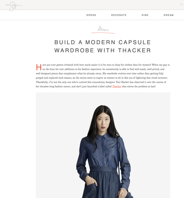 Anne Sage 'Build a Modern Capsule Wardrobe'