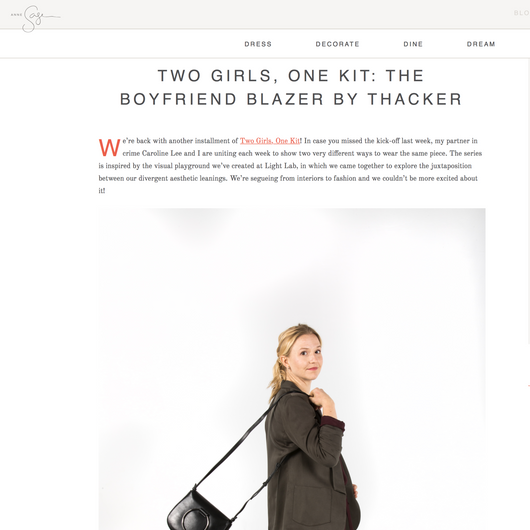 Anne Sage: The Boyfriend Blazer