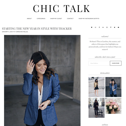 Chic Talk: Starting the New Year in Style with Thacker