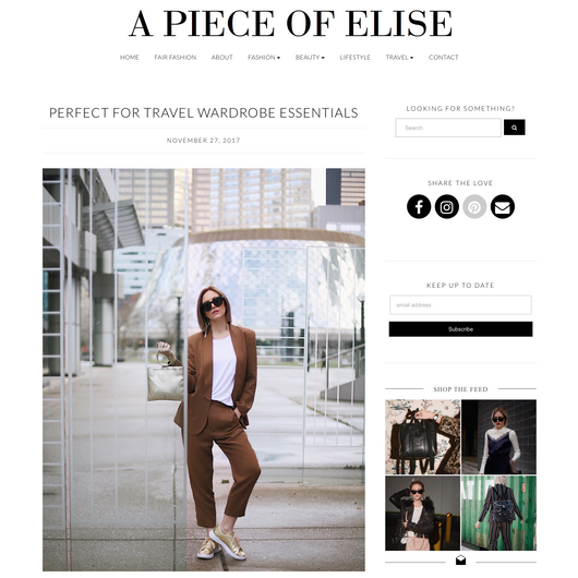 A Piece of Elise: Perfect for Travel Wardrobe Essentials
