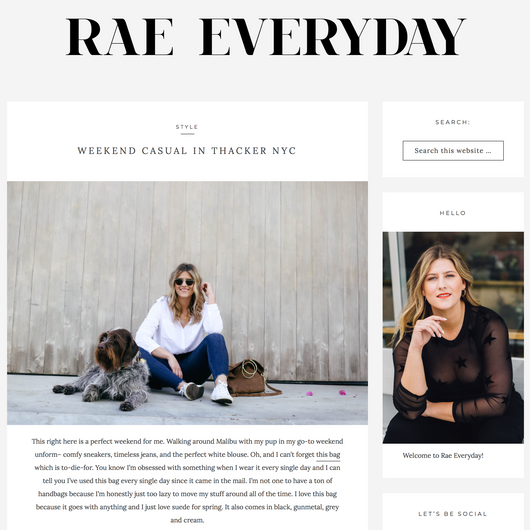 RAE EVERYDAY: WEEKEND CASUAL IN THACKER NYC