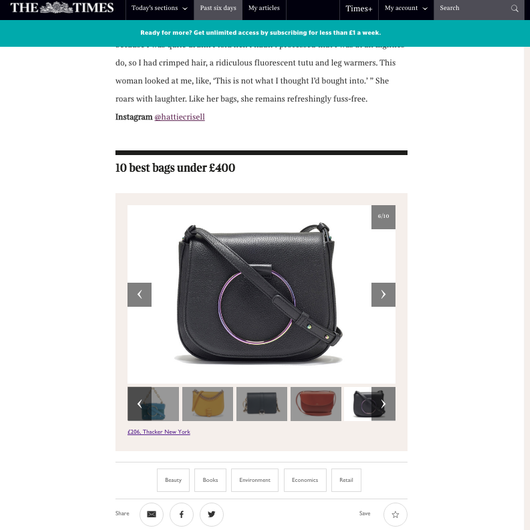 The Times: Ten Best Bags