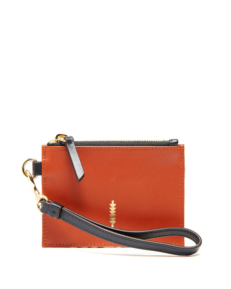 Amber Small Wristlet-Natural Python/Rust Multi