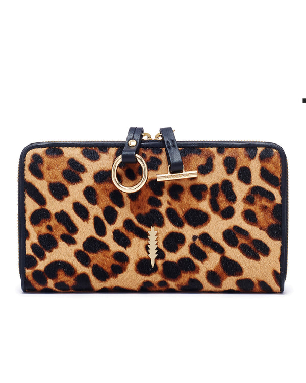 Avery Zip Wallet-Leopard