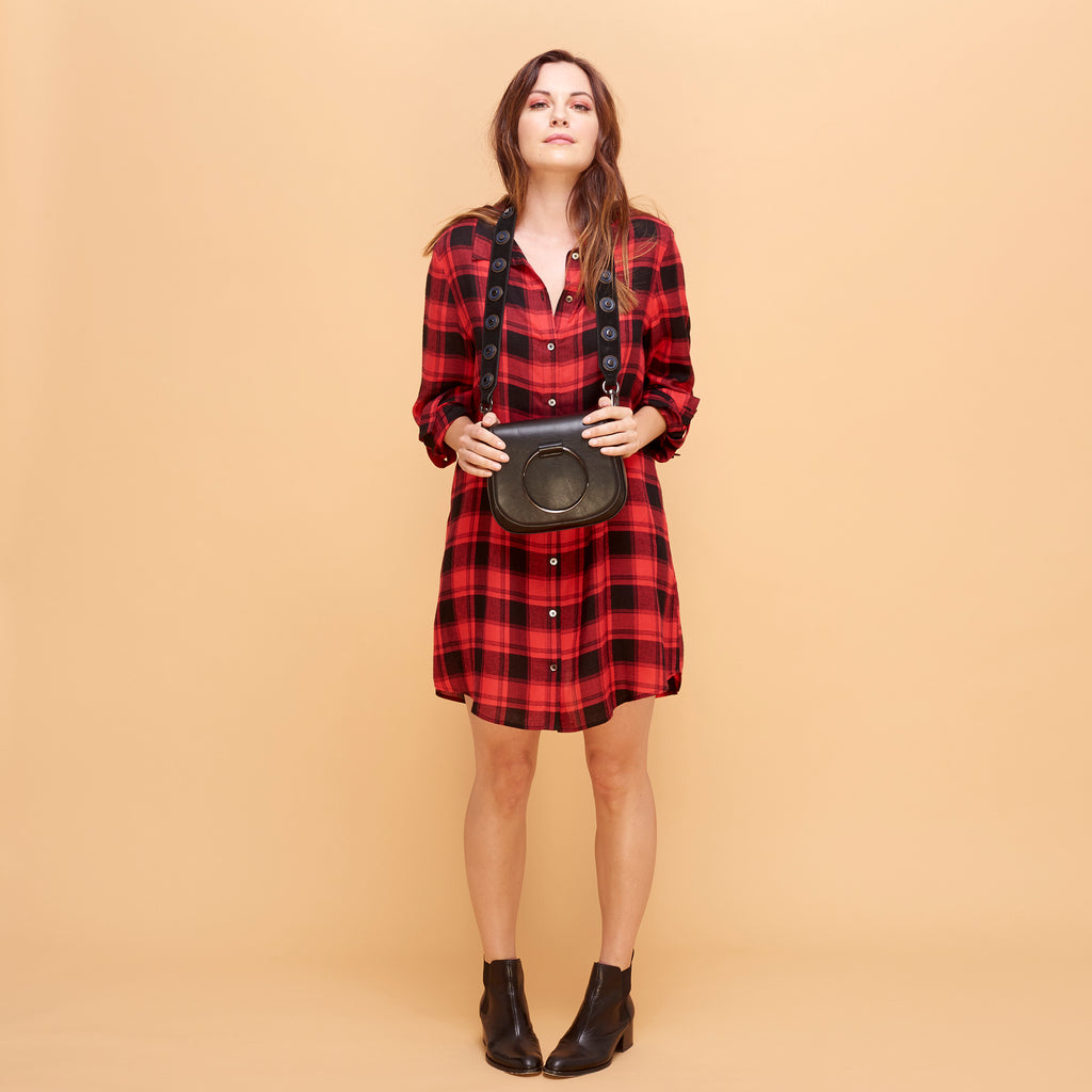RIVA SHIRTDRESS - RED PLAID
