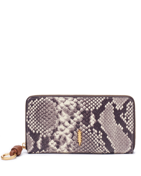 Bo Zip Wallet-Natural Python