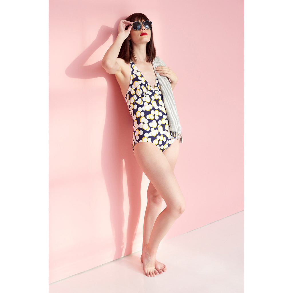 CANNES MAILLOT - NAVY DOTS