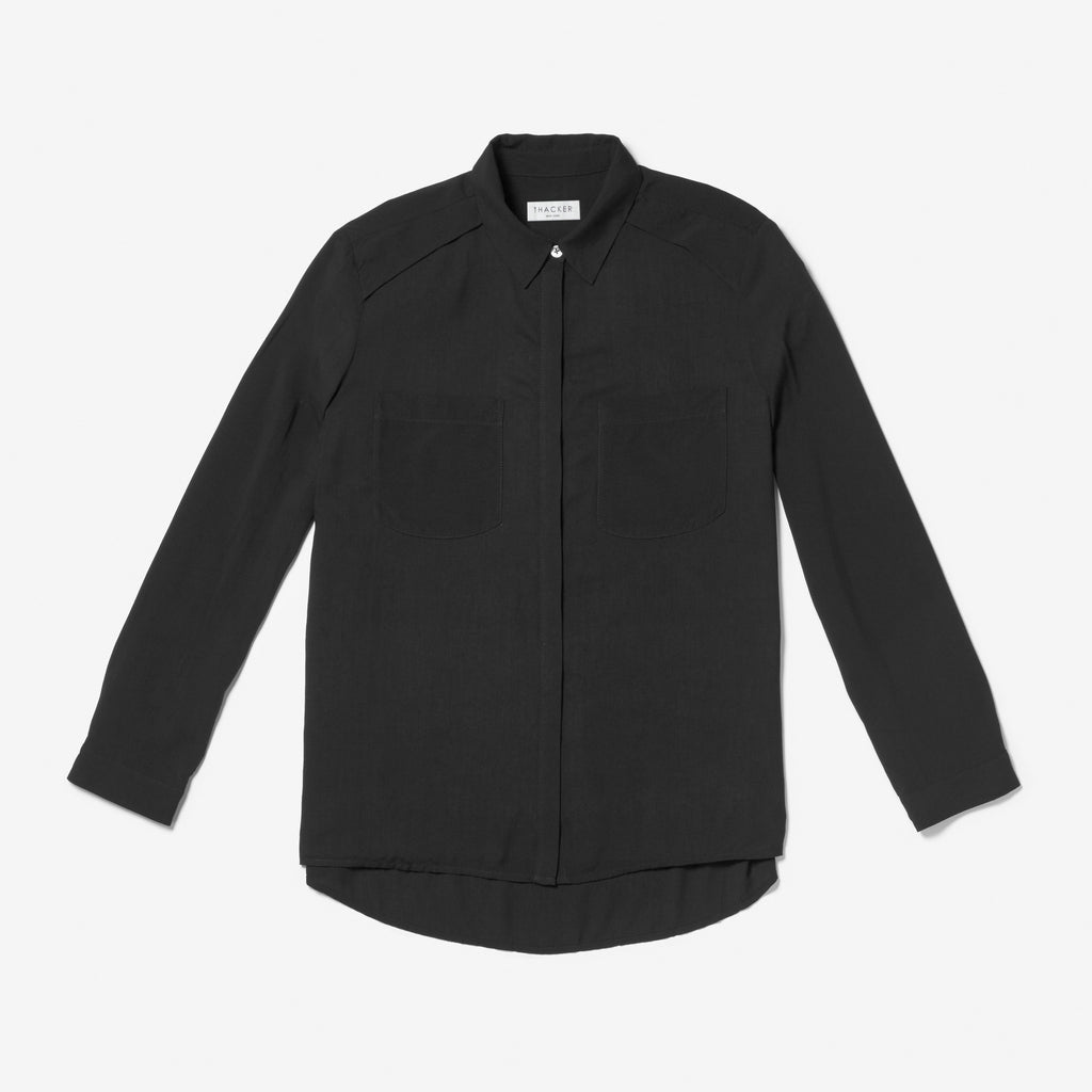 Thacker Dixon boyfriend shirt black