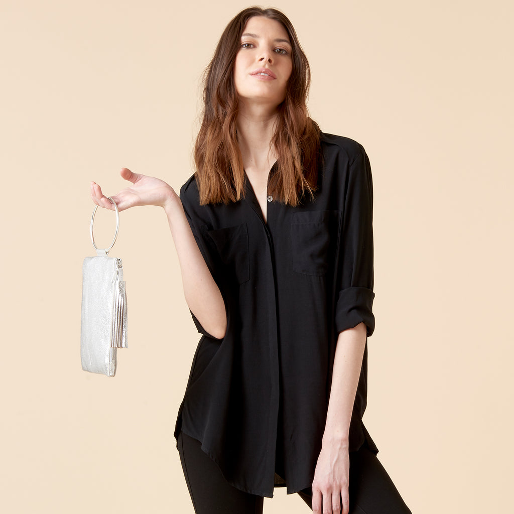 DIXON BOYFRIEND SHIRT - BLACK