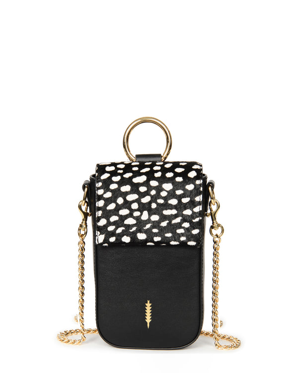 Farrow Travel Phone Crossbody-Black Spotted