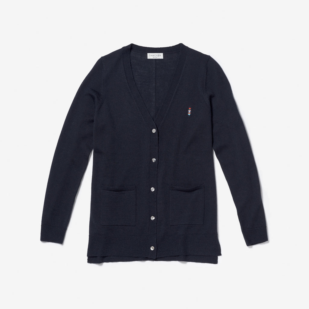 Thacker Finn cardigan navy