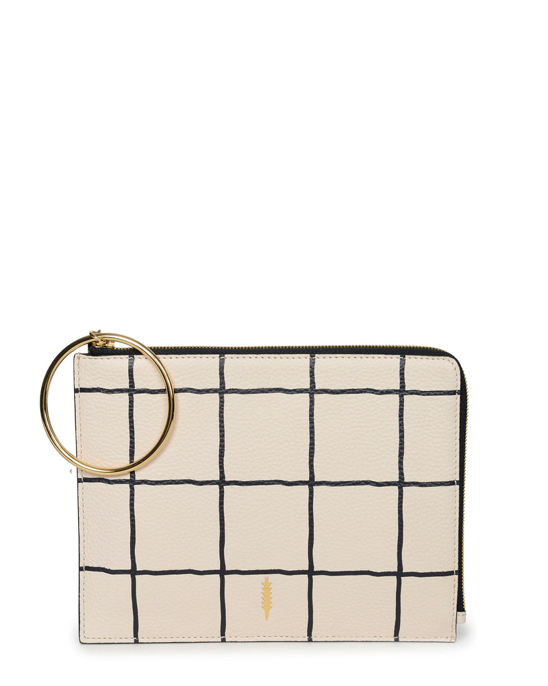 Gable Ring Travel Pouch-Windowpane