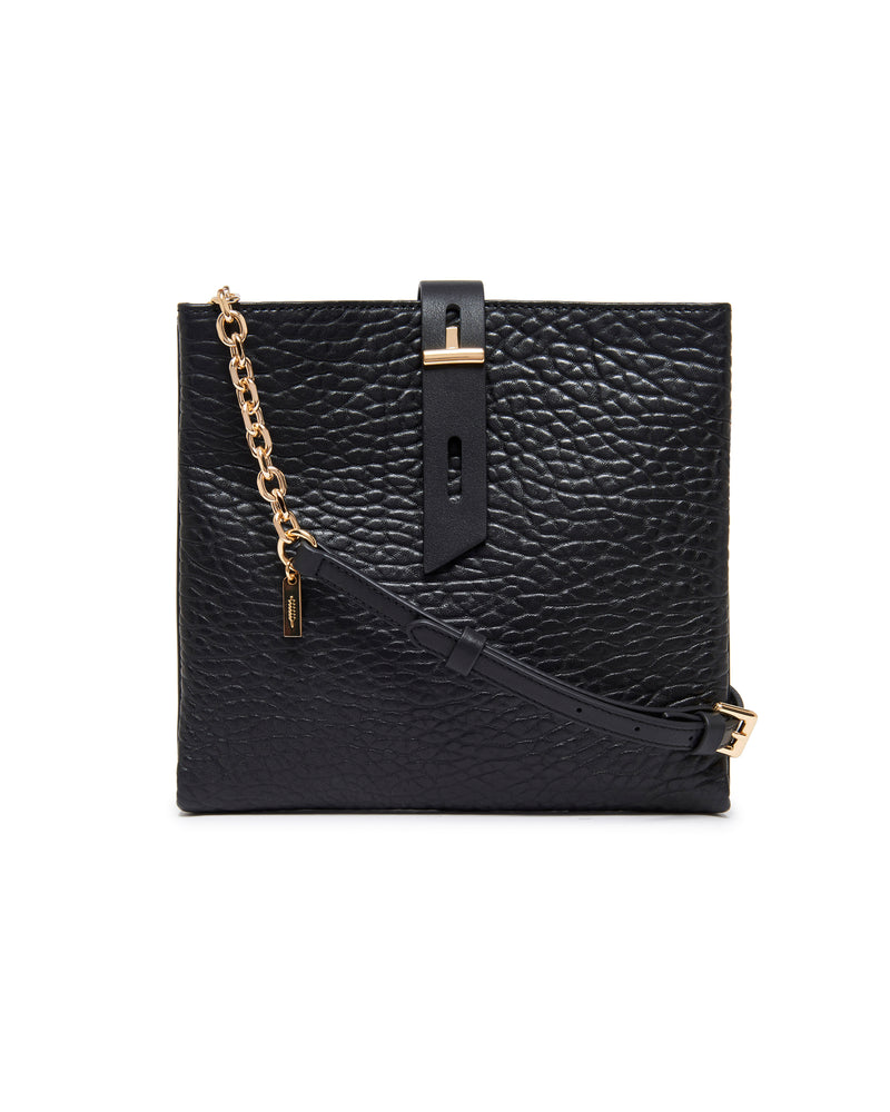 Gabby Chain Crossbody-Black