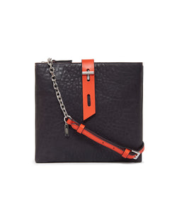 Gabby Chain Crossbody-Navy/Chili