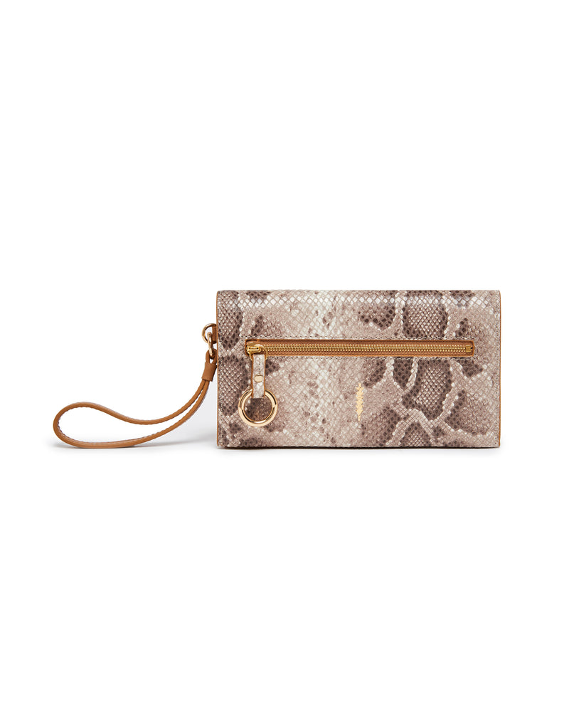 Eve Crossbody Wallet-Snake Miel