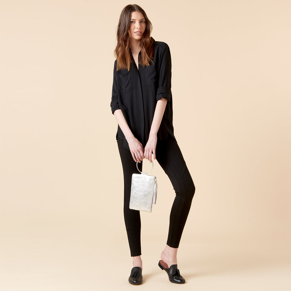 INDRA LEGGINGS - BLACK PONTE