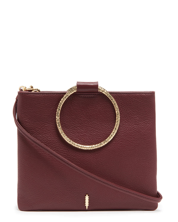 Le Pouch Hammered-Maroon
