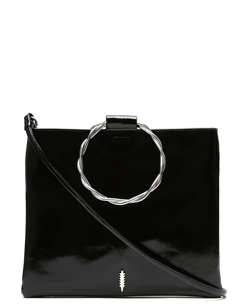 Le Pouch Twisted-Black Patent