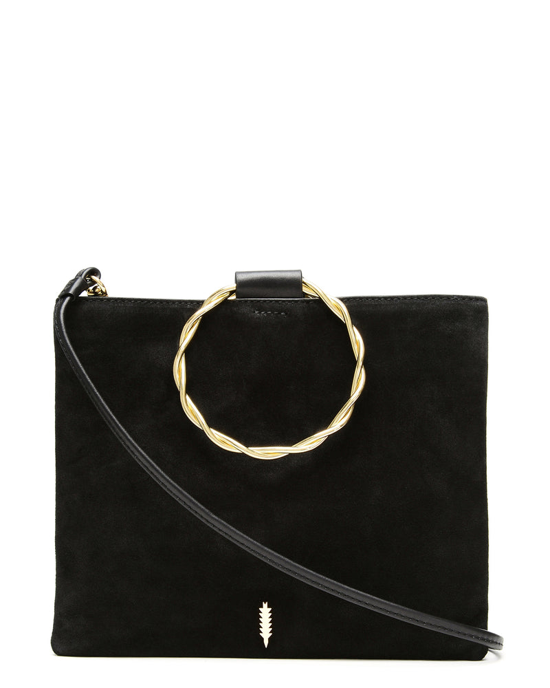 Le Pouch Twisted-Black Suede