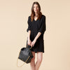 LIYA TUNIC DRESS - BLACK