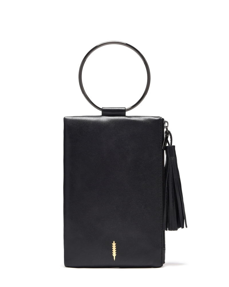 Nolita Clutch-Black/Gunmetal