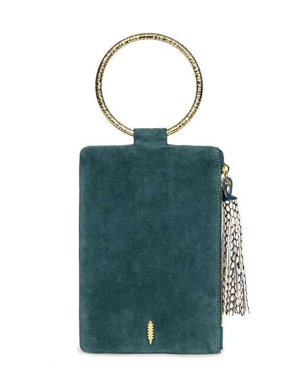 Nolita Clutch Hammered-Dark Teal