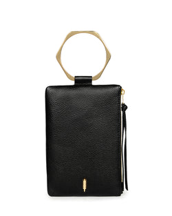 Nolita Clutch Hexa-Black Pebble