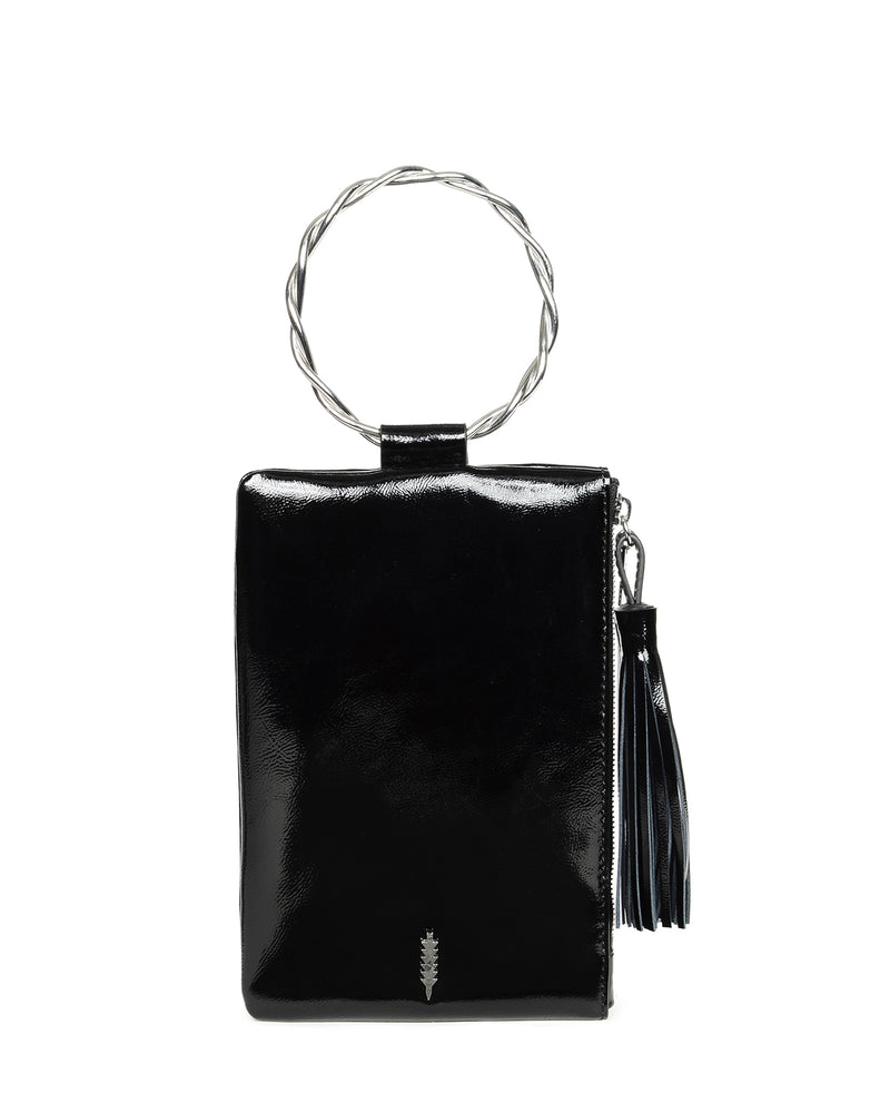 Nolita Clutch Twisted-Black Patent
