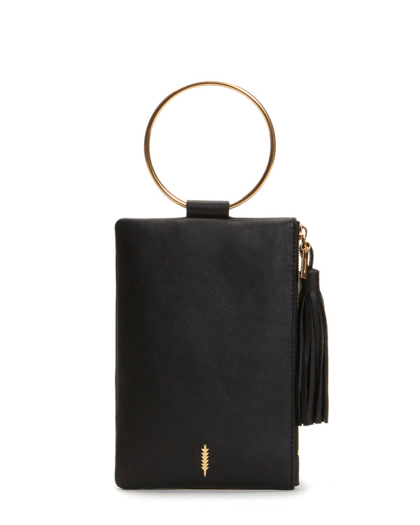 Nolita Clutch-Black/Brushed Gold