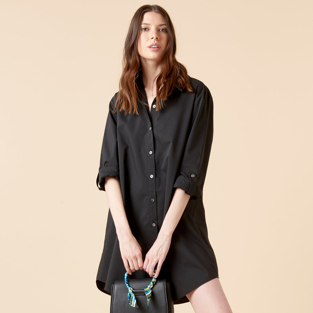 RIVA SHIRTDRESS - BLACK