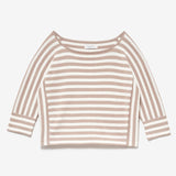 SERGE BOATNECK SWEATER - ECRU/WHITE