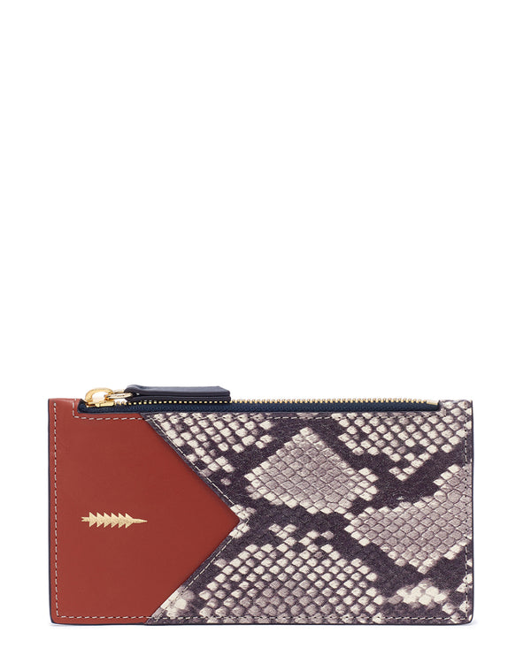 Sofia Large Wallet-Natural Python/Rust Multi