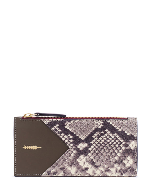 Sofia Large Wallet-Natural Python/Truffle Multi
