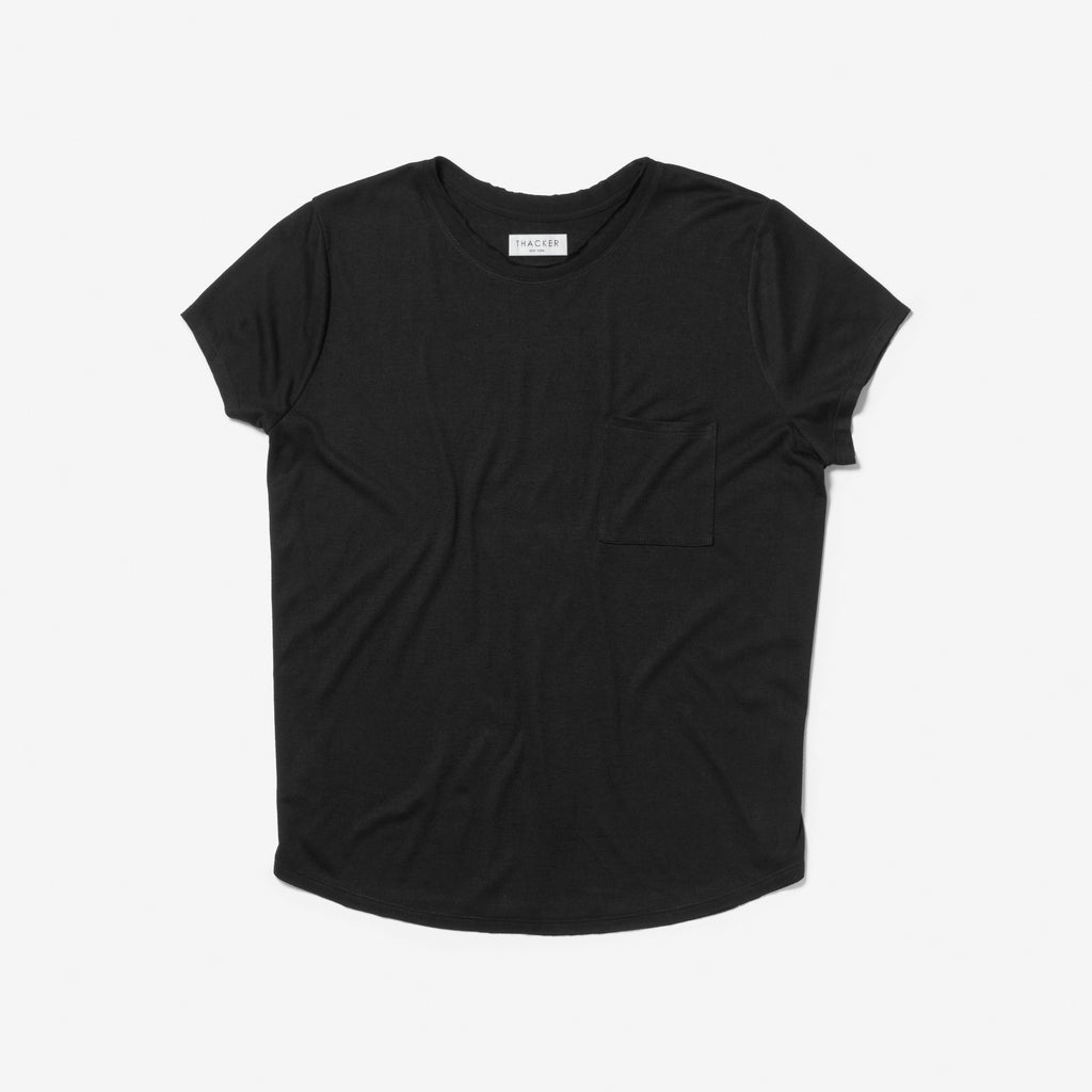 Thacker womens Thea black tee shirt
