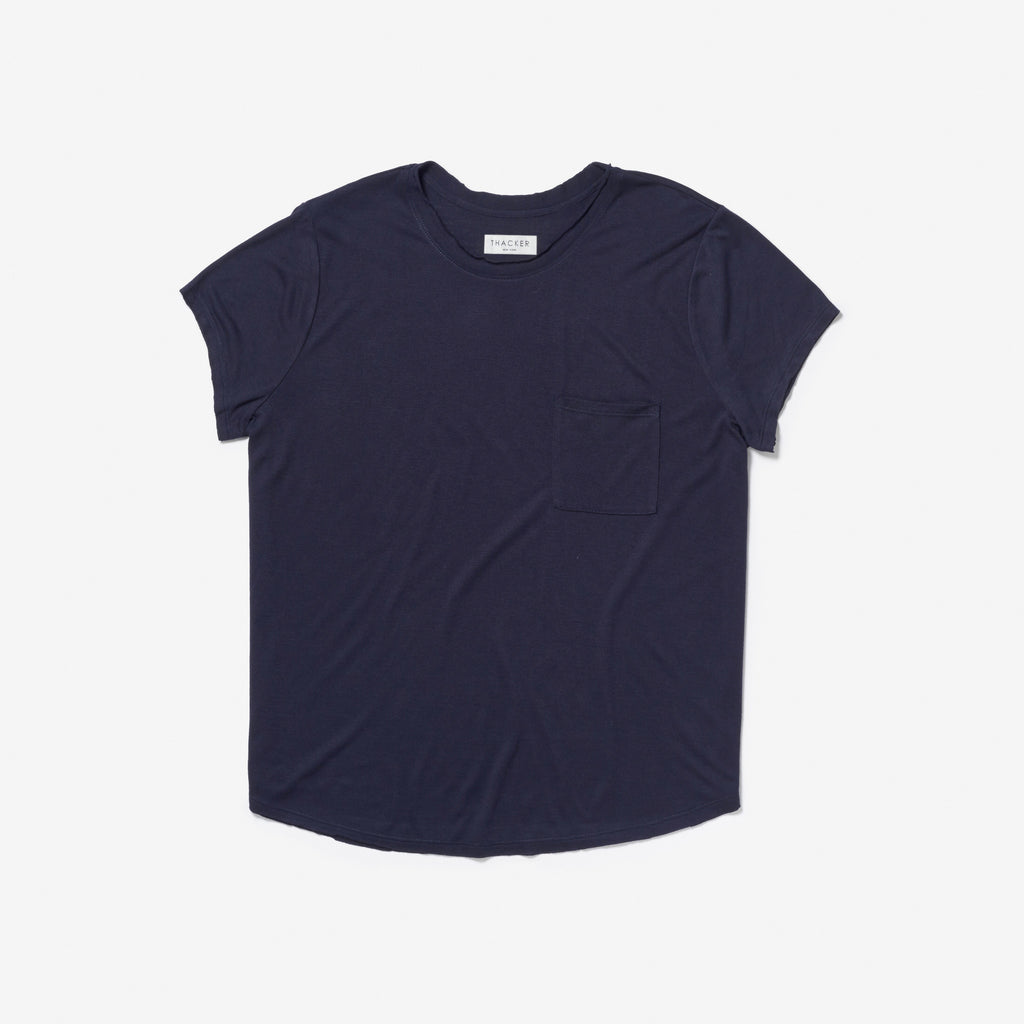 Thacker Thea navy tee shirt