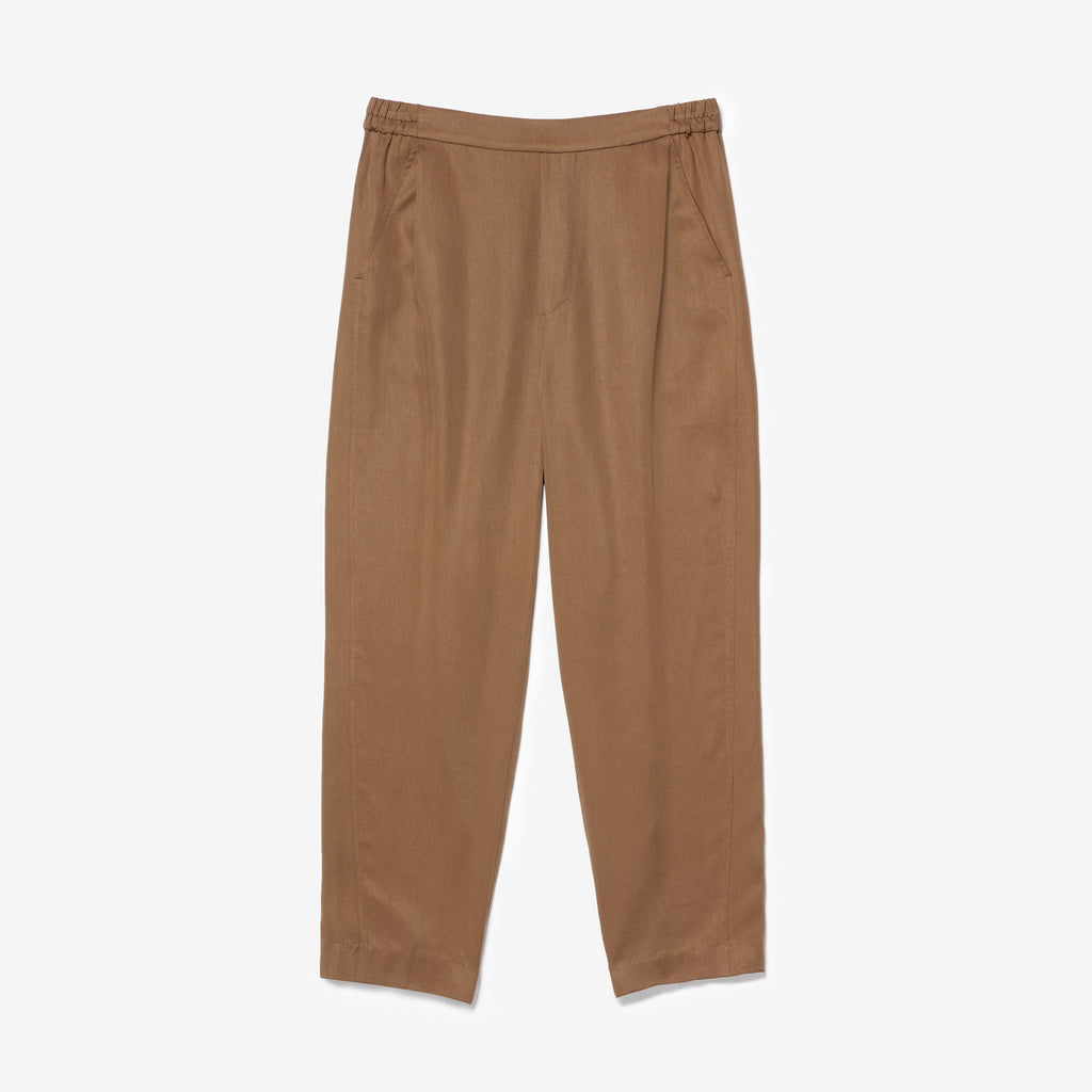 REN DRAPED CROP PANTS - TOBACCO