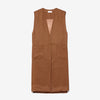 MADRID VEST - TOBACCO