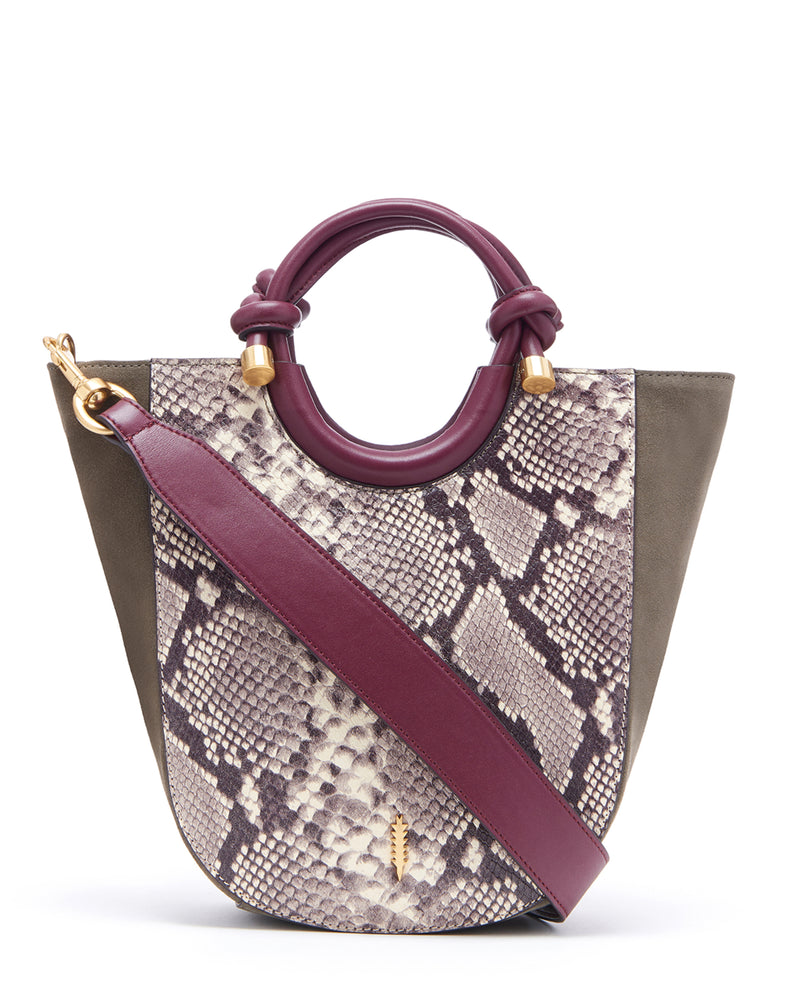 Claire Small Shopper-Natural Python/Truffle