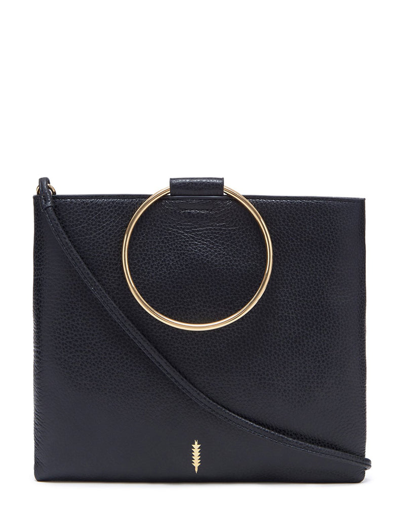 Le Pouch-Black Pebble/Gold