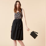 VALERIE MIDI SKIRT - BLACK