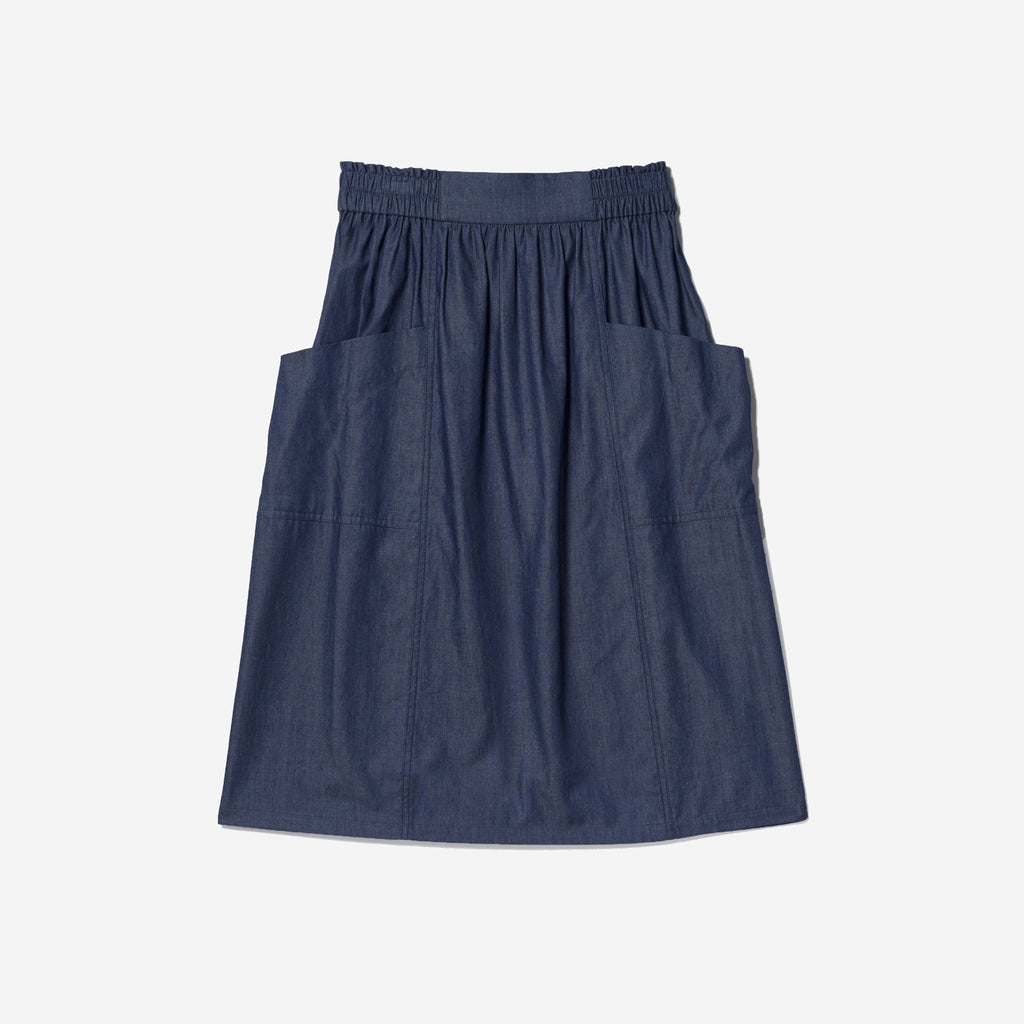 Thacker Valerie midi skirt denim