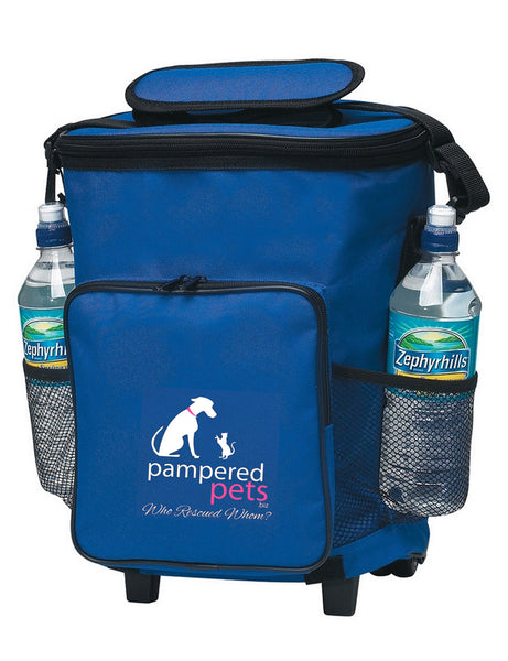 "Pampered Pets 18 can ""Who Rescued Whom"" Rolling Cooler"