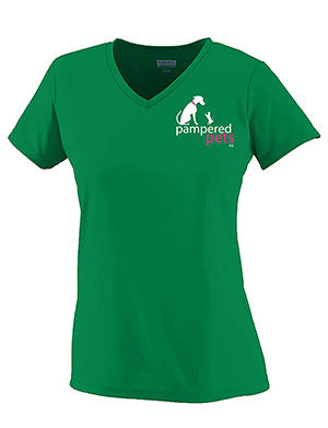 "Ladies Wicking Shirt with the slogan on the back; ""Step aside coffee; this is a job for alcohol"""