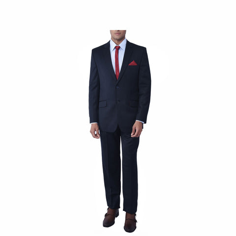 Black Self Melange Suit
