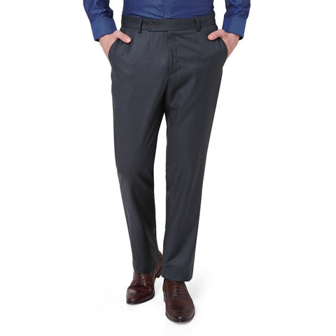 Wool Blend Grey Trouser